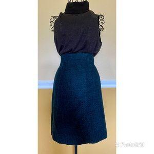 anana Republic tweed wool pencil skirt